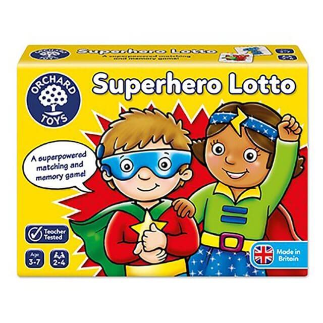 超級英雄的配對記憶遊戲
